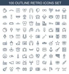 100 retro icons