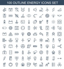 100 energy icons