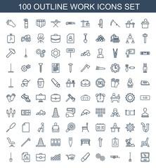 100 work icons