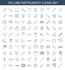 100 instrument icons