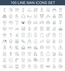 100 man icons