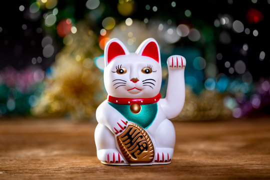 Maneki Neko (Good Luck Cat) Merry Xmas