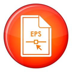 File EPS icon in red circle isolated on white background vector illustration