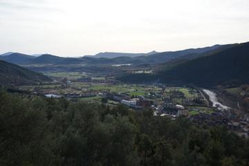 Boltaña. Village of Huesca in Aragon, Spain