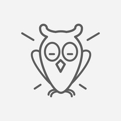 Owl icon line symbol. Isolated vector illustration of  icon sign concept for your web site mobile app logo UI design.