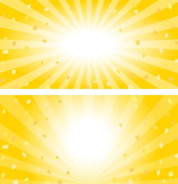 金色の紙吹雪のバナー素材