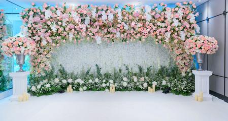 wedding flower decoration, flower backdrop background, rose wall, colorful background, fresh rose, bunch of flower
