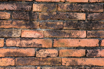 Wall Mural - old red brick wall background