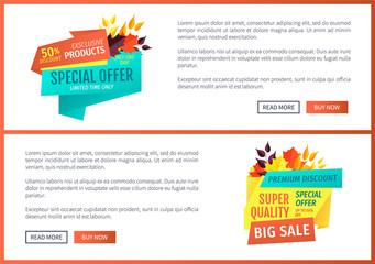 Special Offer Big Sale Set Vector Illustration