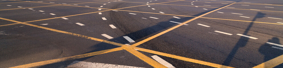 Traffic symbol on asphalt road