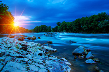 River water and sun