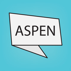 Aspen word on a sticker- vector illustration