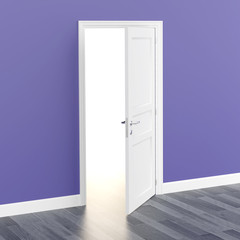 door white open light 3D