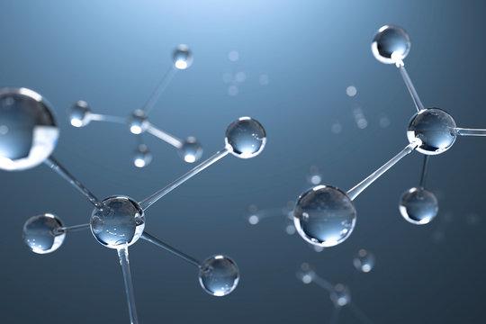 3D Illustration Molekül