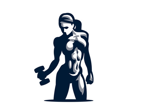 Woman fitness illustration.