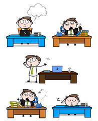 Cartoon Professional Businessman in various poses