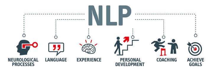 Banner NLP concept - vector illustration