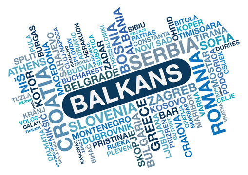 Balkans Word Collage