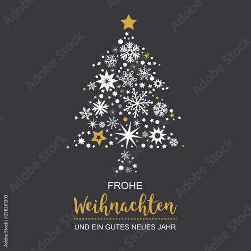 Schwarzer Weihnachtsbaum.Weihnachtsbaum Mit Weihnachtsdeko Vektor Illustration