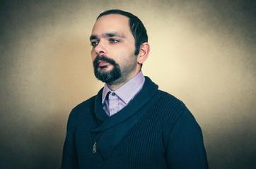 Portrait of the bearded man