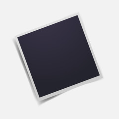 Vector image of blank realistic photo frame. Icon retro photo frames.Vector retro photo frame. Layers grouped for easy editing illustration. For your design.