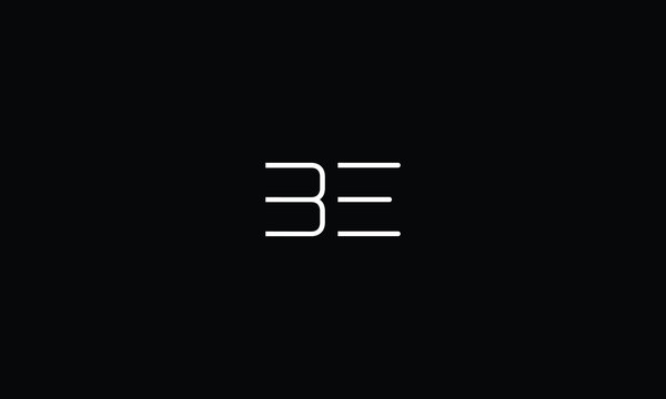 LETTER B AND E LOGO WITH NEGATIVE SPACE EFFECT FOR LOGO DESIGN OR ILLUSTRATION USE