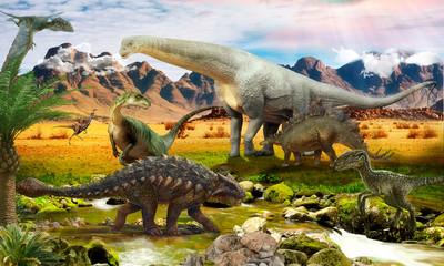 World Jurassic period. Dinosaurs