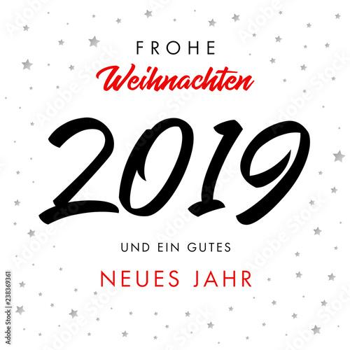 Calligraphy Frohe Weihnachten 2019 Und Ein Gutes Neues Jahr Greeting
