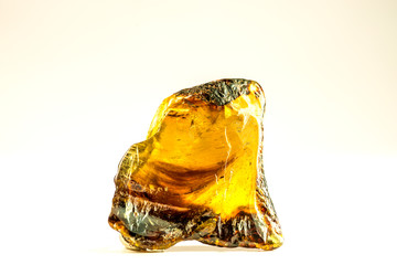 Dominican amber stone in a closeup