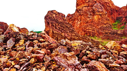 Canyon red rock mountain sandstone like fiction
