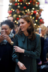 Britain's Catherine, the Duchess of Cambridge, visits Evelina London Children's Hospital in London