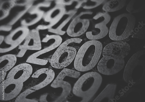 Background Of Numbers From Zero To Nine With Texture Mathematics Concept