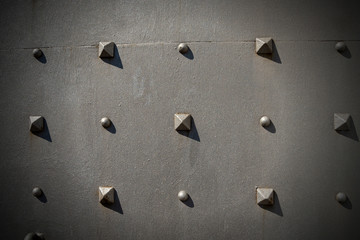 Metal Door with Pyramidal Studs - Background
