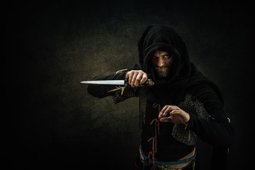 Portrait of a medieval assassin