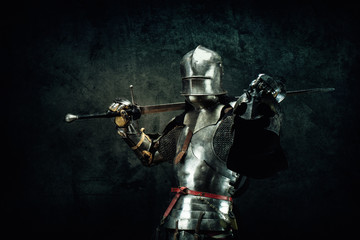 Portrait of a knight in armor Wall mural