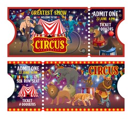 Big top circus tickets, performers and animals