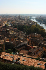 View of the city of Verona, Italy