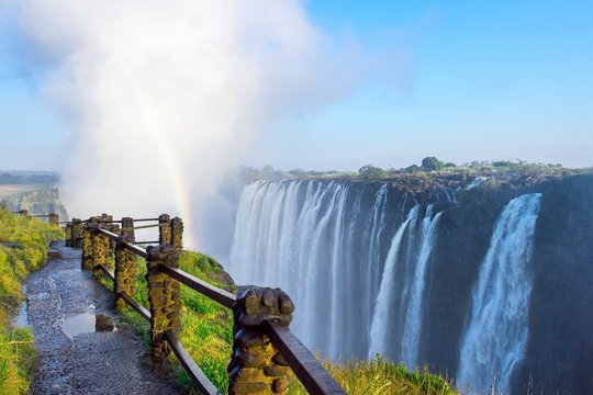 View of Victoria falls, Africa's most famous landmark