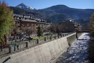 Huesca. Village of Benasque. Aragon, Spain