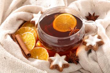 winter drink , hot tea