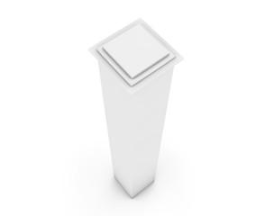 white 3d column on a white background