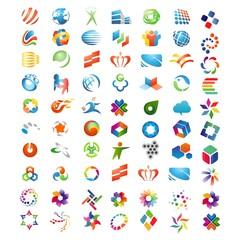 abstract logo colourfull, logo design vector