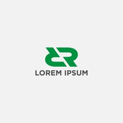 DR logo design vector