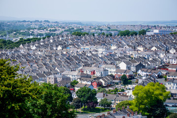 Line of Houses in Plymouth, England
