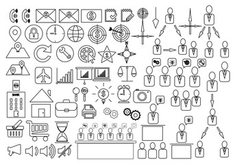 set of infographic elements,Business icons set. Icons for business, management, finance, strategy, marketing.