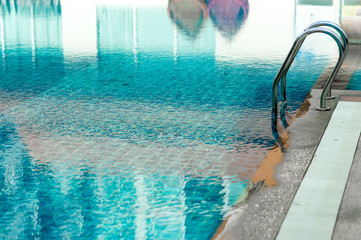 Blue Swimming Pool Ready to play hot for those who like to play with copy space.
