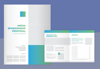Media Sponsporship Template with Blue and Green Gradients