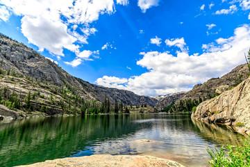 Fotobehang Alpen Lake in the Mountains, Wyoming