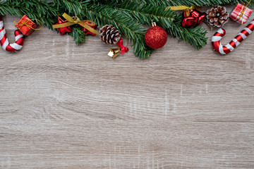 Christmas Background on wood.
