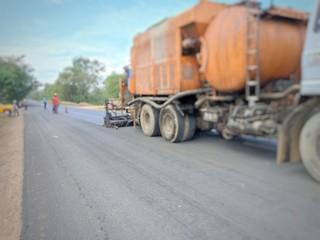 road construction(para slurry seal)